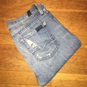 7 For All Mankind. Size 26. Skinny Distressed.